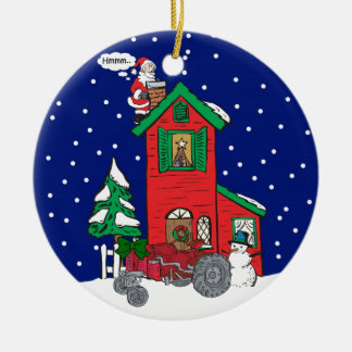 Tractor Gifts By Gear4gearheads Double-Sided Ceramic Round Christmas Ornament