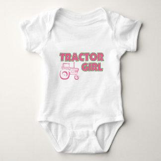 Tractor Girl Baby Bodysuit