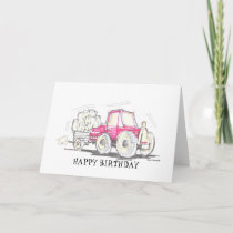 Tractor Happy Birthday Card