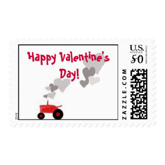 Tractor Heart: Happy Valentine's Day! Postage