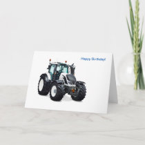 Tractor image for Birthday greeting card