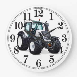 Tractor image for Round Wall Clock