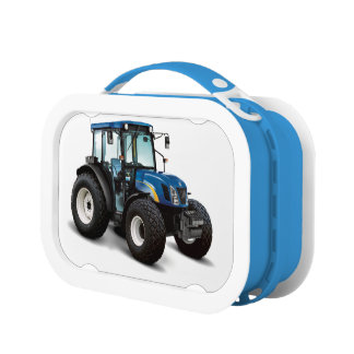 Tractor image for Yubo Lunchbox, Blue Lunch Box