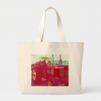 Tractor in a parade large tote bag