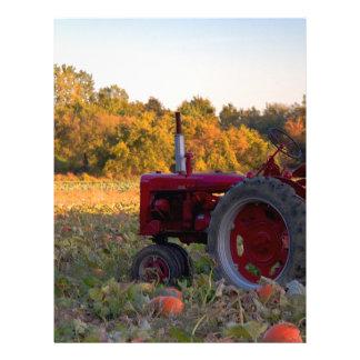 Tractor in a pumpkin field letterhead