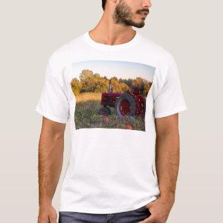 Tractor in a pumpkin field T-Shirt