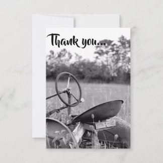 Tractor in Long Grass Thank you Cards