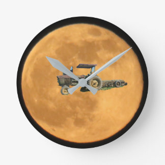Tractor in Moon Clock