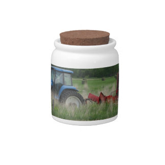 Tractor in the Field Candy Dish