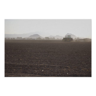 Tractor in the Field Poster