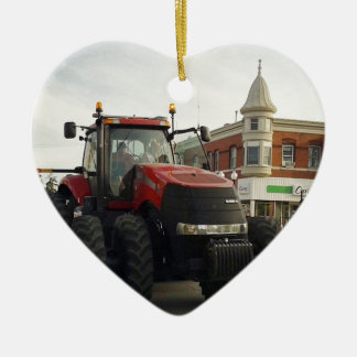 Tractor in the Tractor Parade Ceramic Ornament