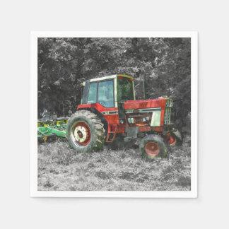 Tractor internacional viejo Painterly Servilletas De Papel