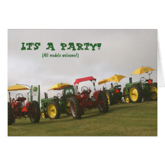 Tractor Invitation: All models welcome! Card