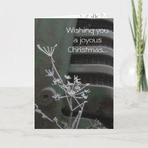 Tractor Joyous Christmas Card
