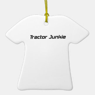 Tractor Junkie Tractor Gifts By Gear4gearheads Double-Sided T-Shirt Ceramic Christmas Ornament