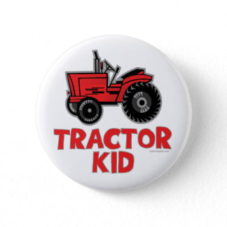 Tractor Kid Button