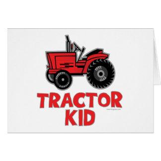 Tractor Kid Card