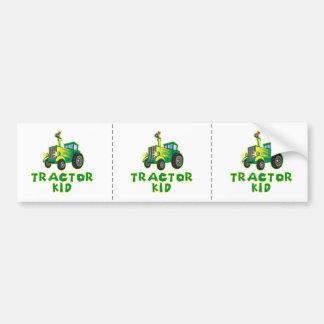Tractor Kid, Green Bumper Sticker