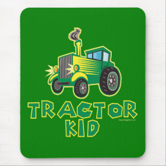 Tractor Kid, Green Mouse Pad