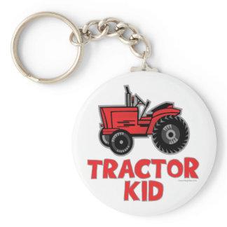 Tractor Kid Keychain