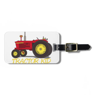 Tractor Kid Luggage Tag