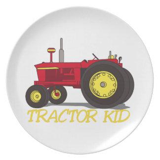 Tractor Kid Melamine Plate