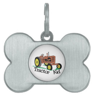 Tractor Kid Pet Tag