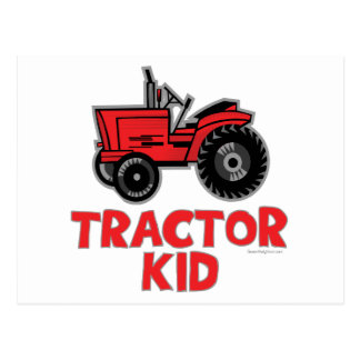 Tractor Kid Postcard