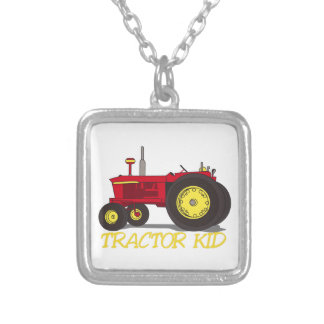 Tractor Kid Silver Plated Necklace