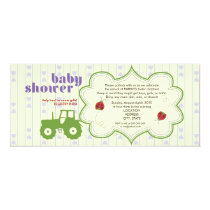Tractor/Ladybug Baby Shower Invitation