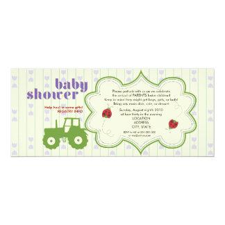 Tractor/Ladybug Baby Shower Invitation