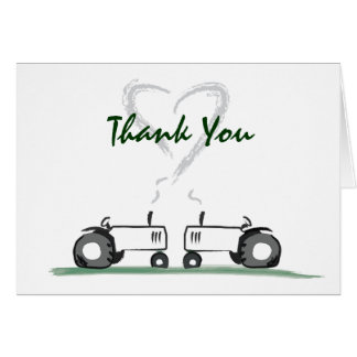 Tractor Love Thank-Your Note Card