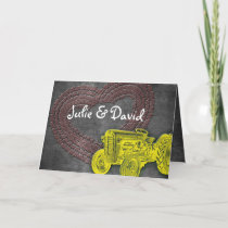 Tractor Love Valentine Card
