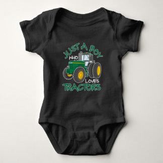 Tractor loving Boy Farming Son Nephew Farmer Baby Bodysuit