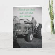 TRACTOR MAN BIRTHDAY CARD