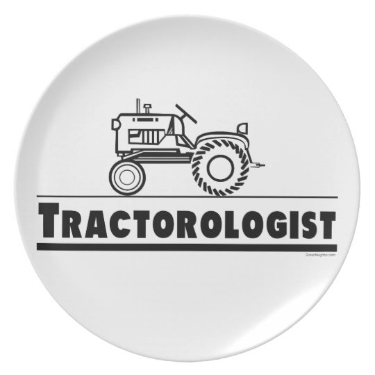 Tractor Melamine Plate
