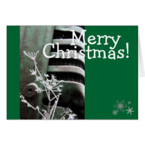 "Tractor ""Merry Christmas"" Greeting Card"