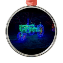 Tractor Metal Ornament
