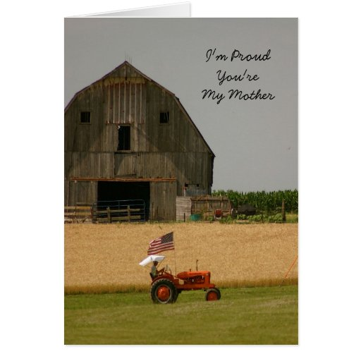 Tractor Mother's Day Card: Tractor Pride Greeting Card
