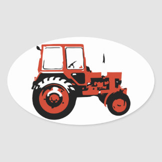 Tractor MTZ Oval Sticker