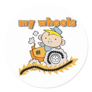 Tractor My Wheels Classic Round Sticker