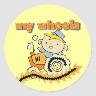 Tractor My Wheels Tshirts and Gifts Classic Round Sticker