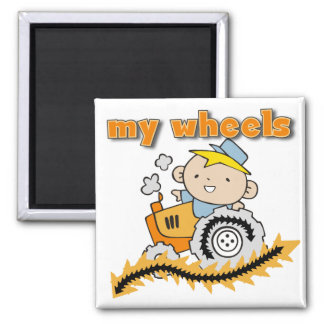 Tractor My Wheels Tshirts and Gifts Magnet