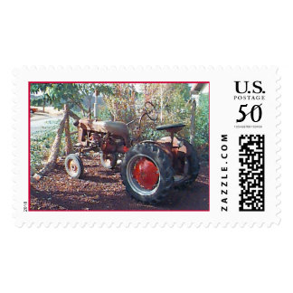 Tractor Old Tractor Red Tractor Postage