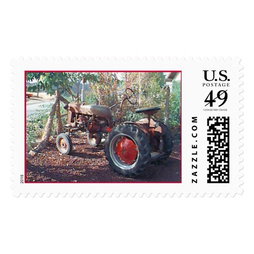 Tractor Old Tractor Red Tractor Stamps