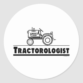 Tractor Ologist Classic Round Sticker