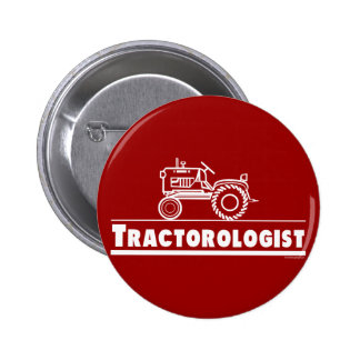 Tractor Ologist RED Pinback Button