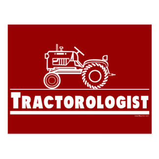 Tractor Ologist RED Postcard