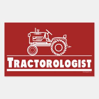 Tractor Ologist RED Rectangular Sticker