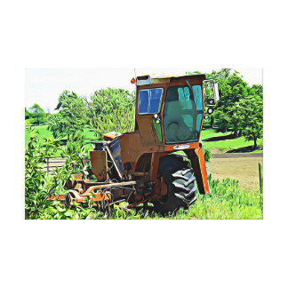 Tractor on a Farm Photography Wall Art